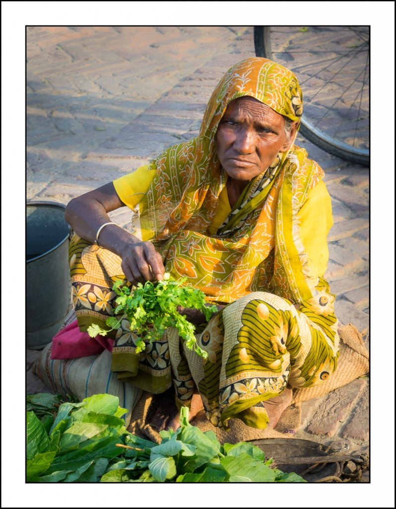 Nepali vegetable seller