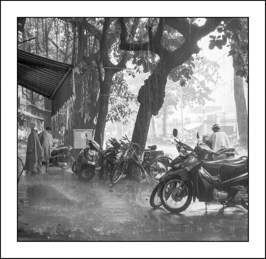 In the rain - Hanoi, Vietnam