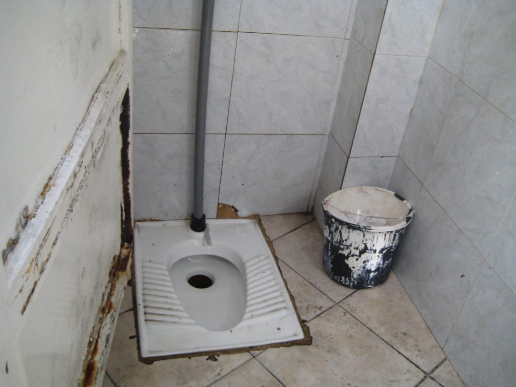 embarrassing squat toilet